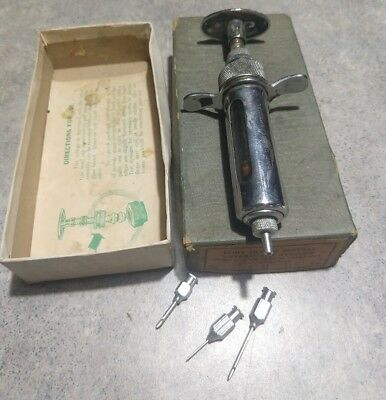 Old Fort Dodge Special Veterinary Syringe Iowa Box Tips