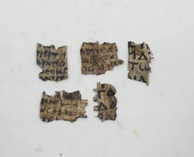 Amazing rare Coptic Egyptian papyrus Lot of 5 in Greek and Latin