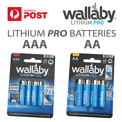 Size AA , AAA Wallaby Lithium PRO Batteries 4/8/48 QTY AUS FAST POST