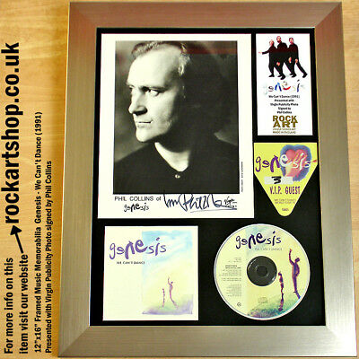 GENESIS We Can't Dance SIGNED PHIL COLLINS PUBLICITY PHOTO Autographed WORLD