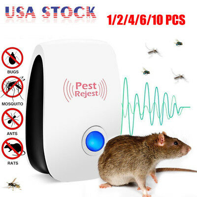 10* Pest Repeller Reject Ultrasonic Electronic Mouse Rat Mosquito Insect Control