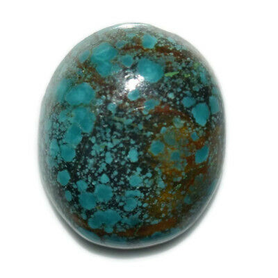 12.2 Ct Natural Tibet Turquise Oval Shape Cabochon Loose Gemstone HJ_43_99