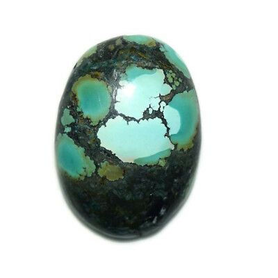 33.5 Ct Natural Tibet Turquise Oval Shape Cabochon Loose Gemstone HJ_43_64