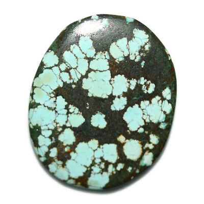 24.5 Ct Natural Tibet Turquise Oval Shape Cabochon Loose Gemstone HJ_43_68