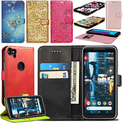 For Google Pixel 2 / 2 XL Case, Wallet Flip Book Leather Card Case Cover Pouch