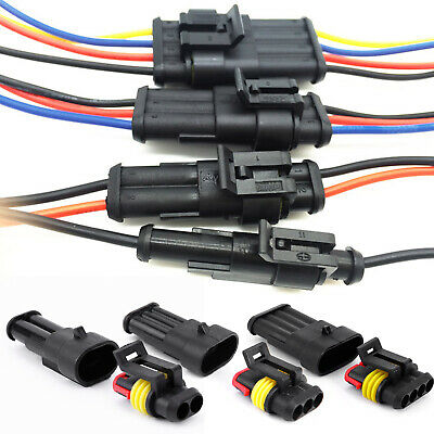 10/20/30  Electrical Wire Superseal Cable Connector Kit Plug 2 3 4 Pin for Car