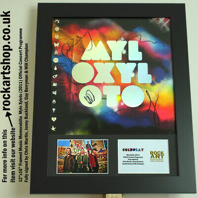 COLDPLAY Mylo Xyloto FULLY SIGNED CHRIS MARTIN+JONNY+GUY+WILL Autographed *WORLD