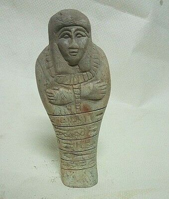 ANCIENT EGYPTIAN ANTIQUE USHABTI Statue Stone 1632-1249 BC