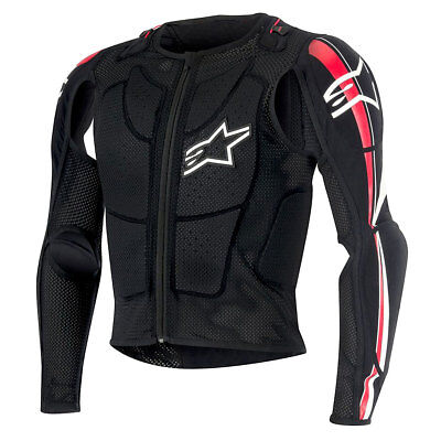 Alpinestars Bionic Plus Black / Red / White Motorcycle Armour Jacket | All Sizes