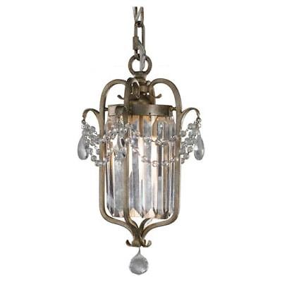 Feiss Gianna Gilded Silver Crystal Chandelier - F2474/1GS