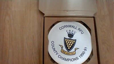 1991 Cornwall Rfu County Champions Limited Edition  Commemorative Plate-Boxed