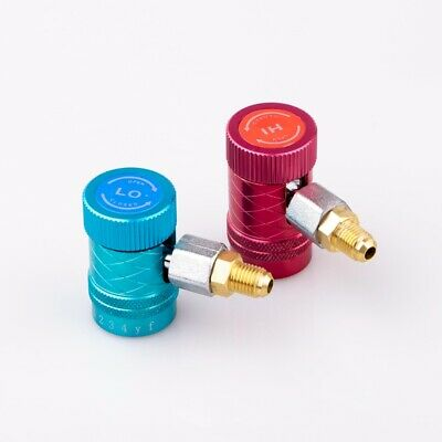 Auto AC High//Low Side R1234yf Quick Couplers Adapters Conversion Kit With Manual