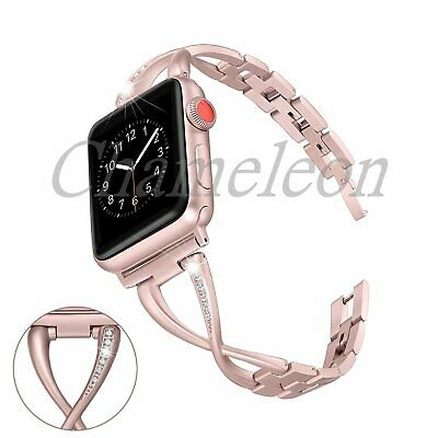 Stainless Steel Women Watch band Strap for Apple Watch 38mm/42mm series 3 2 1