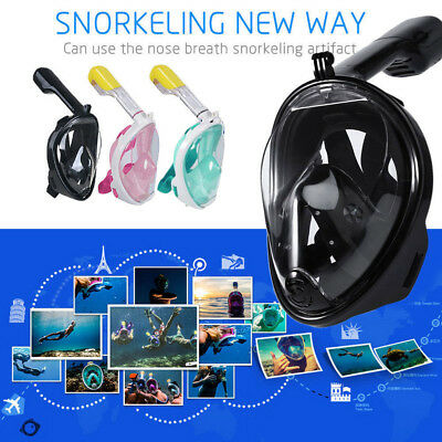 Adult Kids Full Face Diving Mask Scuba Swimming Surface Snorkel Pipe for Gopro