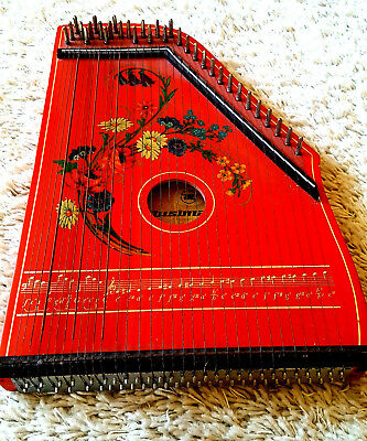 Vintage old 60/70's DDR Musima Markneukirchen ZITHER 33 Strings