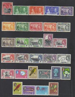St Helena 1916-1961 Mh Selection Cat £39+