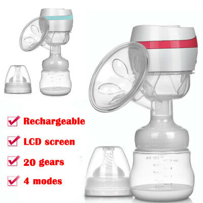 LCD Digital Electric Breast Pump Rechargeable Massage Build in Battery