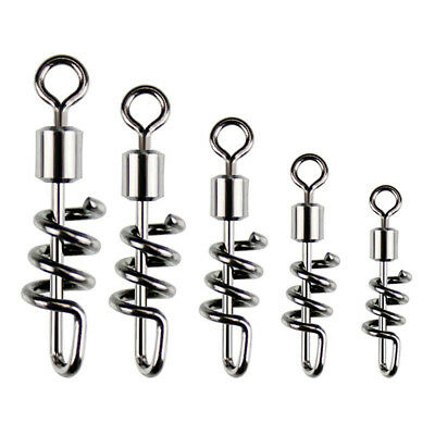 10X Fishing Hooks Snap Swirl Connectors Rolling Rings Wire Leader Swivels Strict