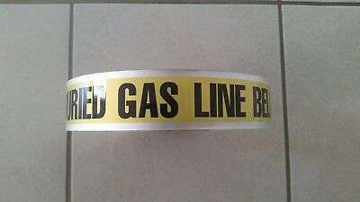 Gas line detectable marking tape 1000'