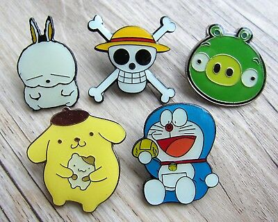 5 x Comic / Manga Pin / Pins: 5 verschiedene Anime aus Japan - Doraemon  - Set A