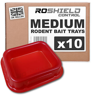 Roshield 10 x Medium Plastic Monitoring Trays for Rat & Mouse Poison Control