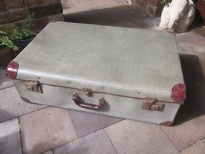 Antique/vintage suitcase/trunk/coffee table, 1930s rustic industrial style