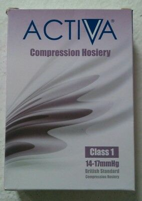 Activa Compression Hosiery Class 1 14-17mm Hg Thigh Length Colour Black M