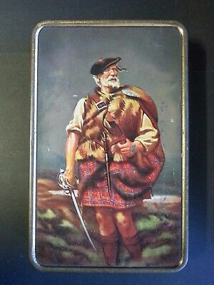 "Vintage Biscuit Tin ""the Clansman"""