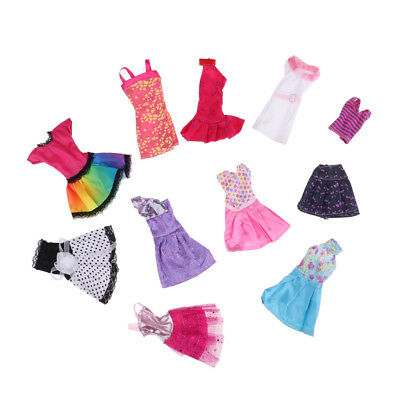 10PCS For Barbie Doll Dress Fashion Clothes Party Dress Children Girl Gift