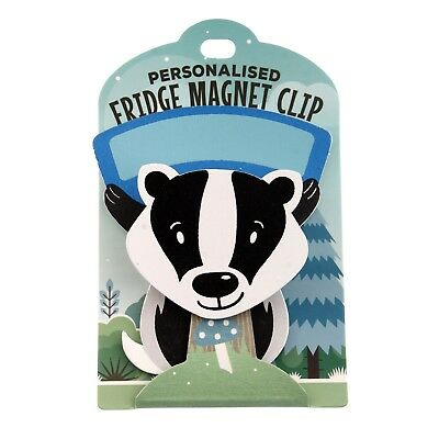 Fridge Magnet Clip Blank Badger
