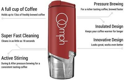 Oomph Portable Coffee Maker Red