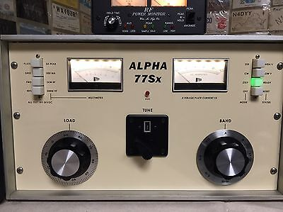 Alpha 77Sx and 77Dx ETO Amplifier Reproduction Front Panel Ham Radio