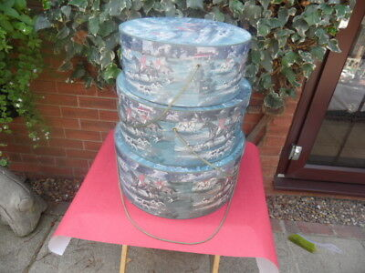 3 hunting scenes hat boxes