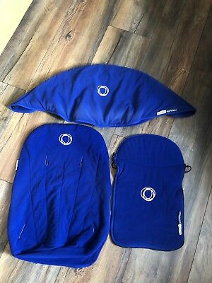 Bugaboo Cameleon 1&2 fleece fabric set apron and seat cover Blue