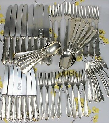 Superb quality silver plated WELLNER Rostend Cutlery Canteen / Set for 8 people.