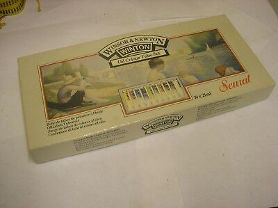 UNUSED BOX OF 10 x 21ml WINTON OIL COLOURS WINSOR AND NEWTON