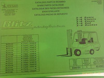 Spare Parts Book Cesab Blitz Forklift 312-420 from Yr 03/2000 Incl. Wartungsbuch