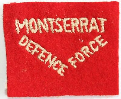 Monserrat Defence Force Cloth Badge Colonial Commonwealth West Indies