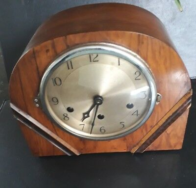 Vintage Art Deco F. MAUTHE German  Mantel Clock with Westminster Chimes