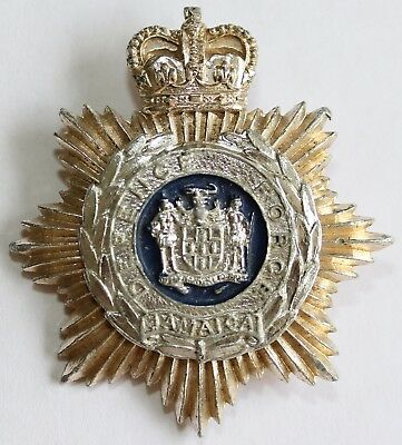 Jamaica Defence Force Staybrite Cap Badge Colonial Commonwealth West Indies