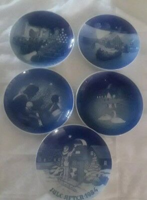 Bing & Grondahl  Porcelain Christmas Plate collection, set of 5