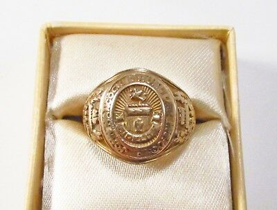 Vintage 1950s John Hancock Mutual Life Insurance USA 10K Gold Award Ring Sz 6.75