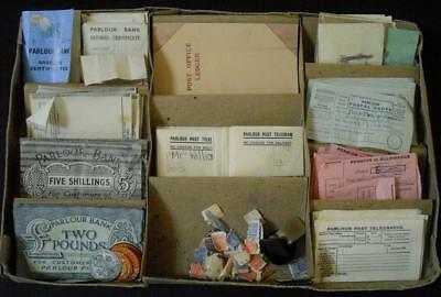 WW2 Vintage Toy Parlour Post Office Airgraph Forms Savings Certificates etc 1942