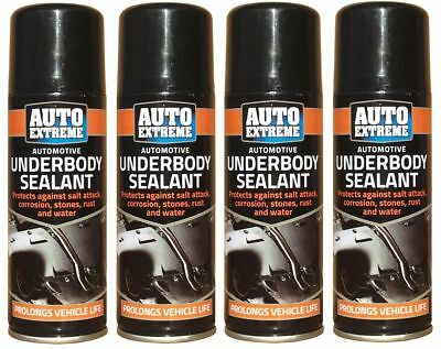 4 x Underbody Sealant 200ml Hi Performance Seal Protection Spray CarS Van Auto
