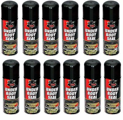 12 x Underbody Sealant 200ml Hi Performance Seal Protection Spray CarS Van Auto