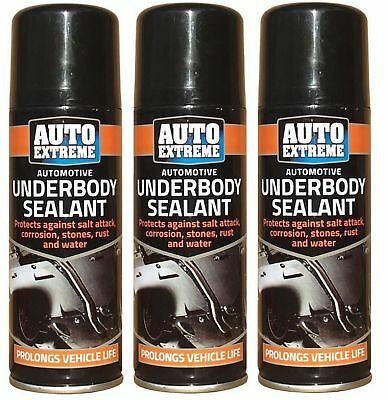 3 x Underbody Sealant 200ml Hi Performance Seal Protection Spray CarS Van Auto
