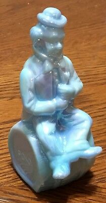 Poko  Vintage 1982 Moser Iridescent Glass Clown Alley The Performer Figurine