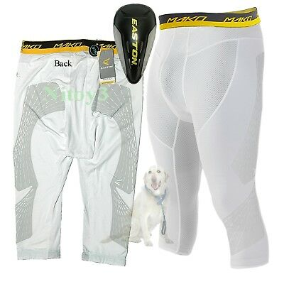 Easton Mens Mako 3/4 Sliding-Compression Shorts With Cup Large: 34-36