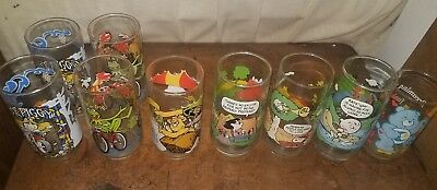 Vintage MUPPETS  Snoopy Peanuts Glasses Great Muppet Caper LOT Kermit care bear