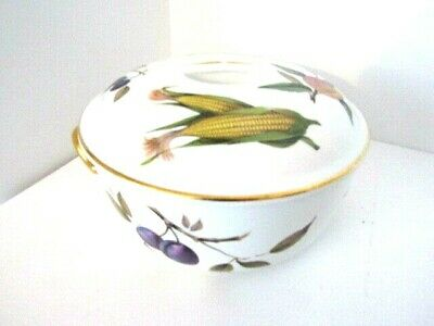 Royal Worcester Flameproof Porcelain Evesham Autumn Dish Oven to Table 81/2""